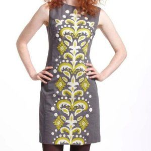 Anthropologie Tabitha Gray Embroidered Dress